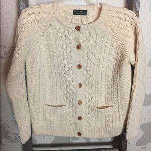 Blarney Woolen mills cable knit cardigan M